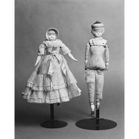 Fixture Antique Bisque (Close-up of antique dolls Bisque Dolls c1880 Canvas Art -  (18 x)