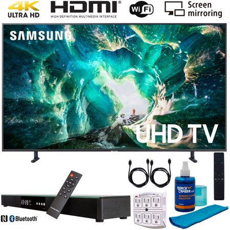 "Samsung UN49RU8000 49"" RU8000 LED Smart 4K UHD TV (2019) w/ Soundbar Bundle Includes, Deco Gear Home Theater Surround Sound 31"" Soundbar, Screen Cleaner, 2x HDMI Cable and 6-Outlet Surge Adapter"