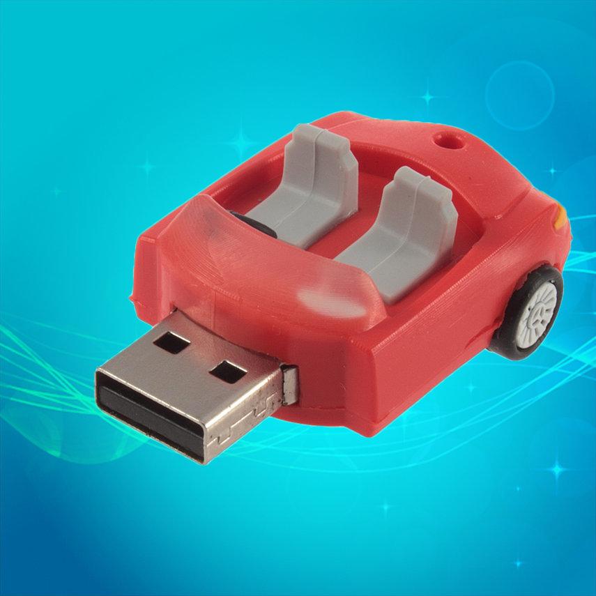 U disk 8GB Convertible Car Shape Memory Flash Drive Stick For Laptop PC new