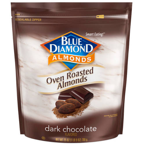 Blue Diamond Dark Chocolate Flavored Oven Roasted Almonds, 25 oz