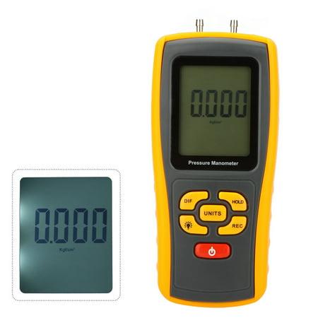 GM510 Portable USB Digital LCD Pressure Manometer Gauge Differential Pressure Manometer Measuring Range 10kPa