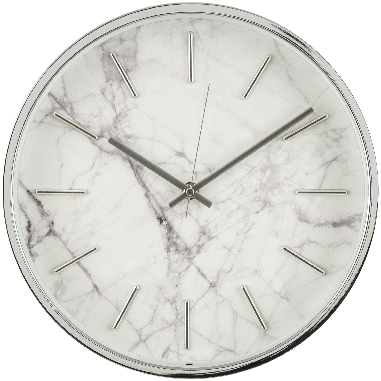 Better Homes & Gardens Chrome Finish Marble Pattern Clock