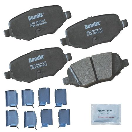 Go-Parts OE Replacement for 2010-2018 Ford Taurus Rear Disc Brake Pad Set for Ford Taurus (Base / Limited / SE / SEL / SHO)