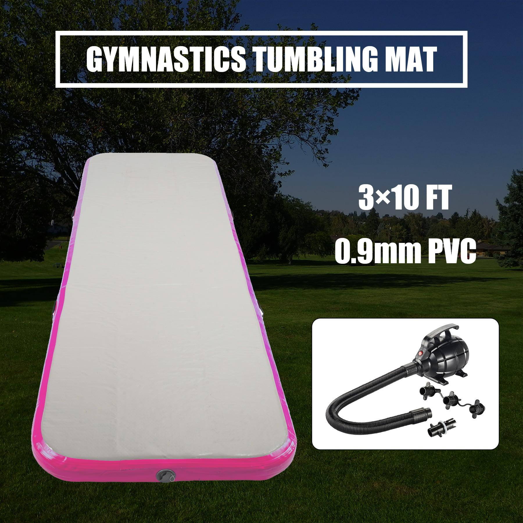 Inflatable Gymnastics Tumbling Mat Air Floor Air Track w Electric Air Pump by