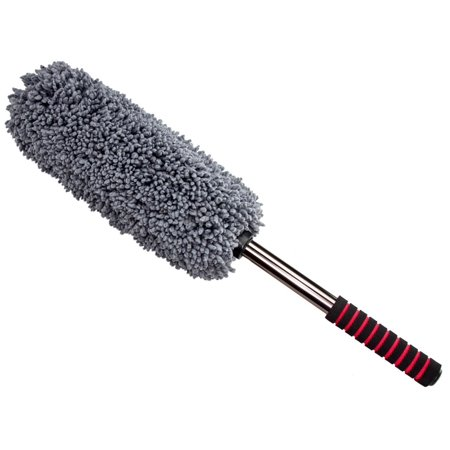 Reactionnx Ultimate Car Duster - The Best Microfiber Multipurpose Duster - Pollen Removing - Exterior or Interior Use - Lint Free - Long Unbreakable Extendable