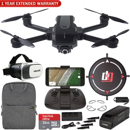Yuneec Mantis Q Foldable Drone with 4K UHD Camera and WiFi Remote Mobile Go Kit Landing Pad, VR FPV Goggles, Backpack, High Speed Memory Card & One Year Warranty Extension