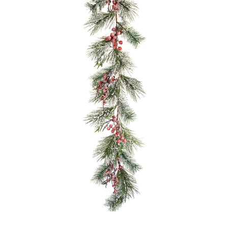 Melrose 5 ft. Iced Pine and Berry Garland - Set of - Mabel Pines Costume
