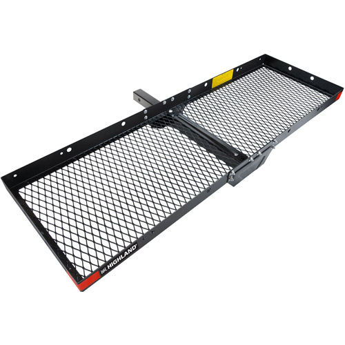 Highland Steel Hitch Mounted Cargo Tray, Black