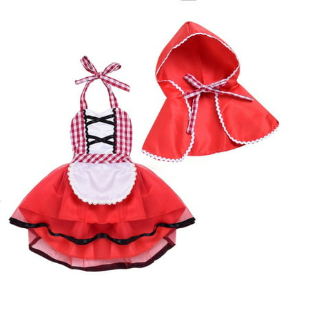 Tween Little Red Riding Hood Halloween Costume (Baby Girls HalloweenCostume Deluxe Little Red Riding Hood Costume Cape Cloak Outfits Storybook Fairy)