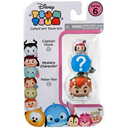 Disney Tsum Tsum Series 6 Captain Hook & Peter Pan Minifigure 3-Pack - Captian Hook