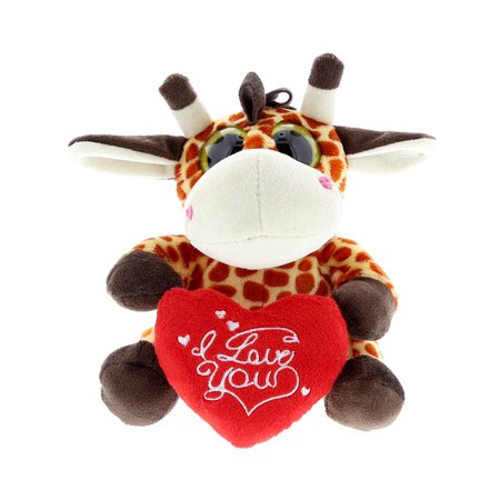 Super Soft Plush Dollibu Giraffe Big Eye I Love You Valentines Plush ()