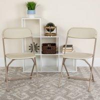 Flash Furniture 2 Pk. HERCULES Series 650 lb. Capacity Premium Brown Plastic Folding Chair