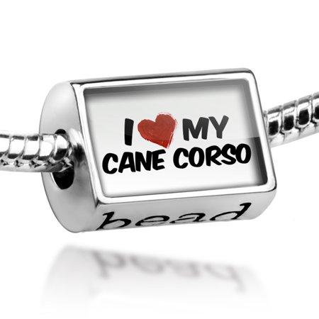 Bead I Love my Cane Corso Dog from Italy Charm Fits All European (Rosary Beads Italian Charm)