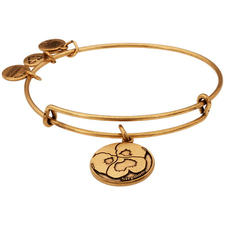 Alex And Ani Stepmom Charm Rafaelian Gold Finish Bangle Bracelet A13EB05RG (Alex And Ani Bangles Cross)