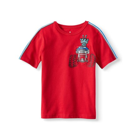 Short Sleeve Graphic Pocket Tee (Little Boys & Big Boys) (Little Kid Couple)