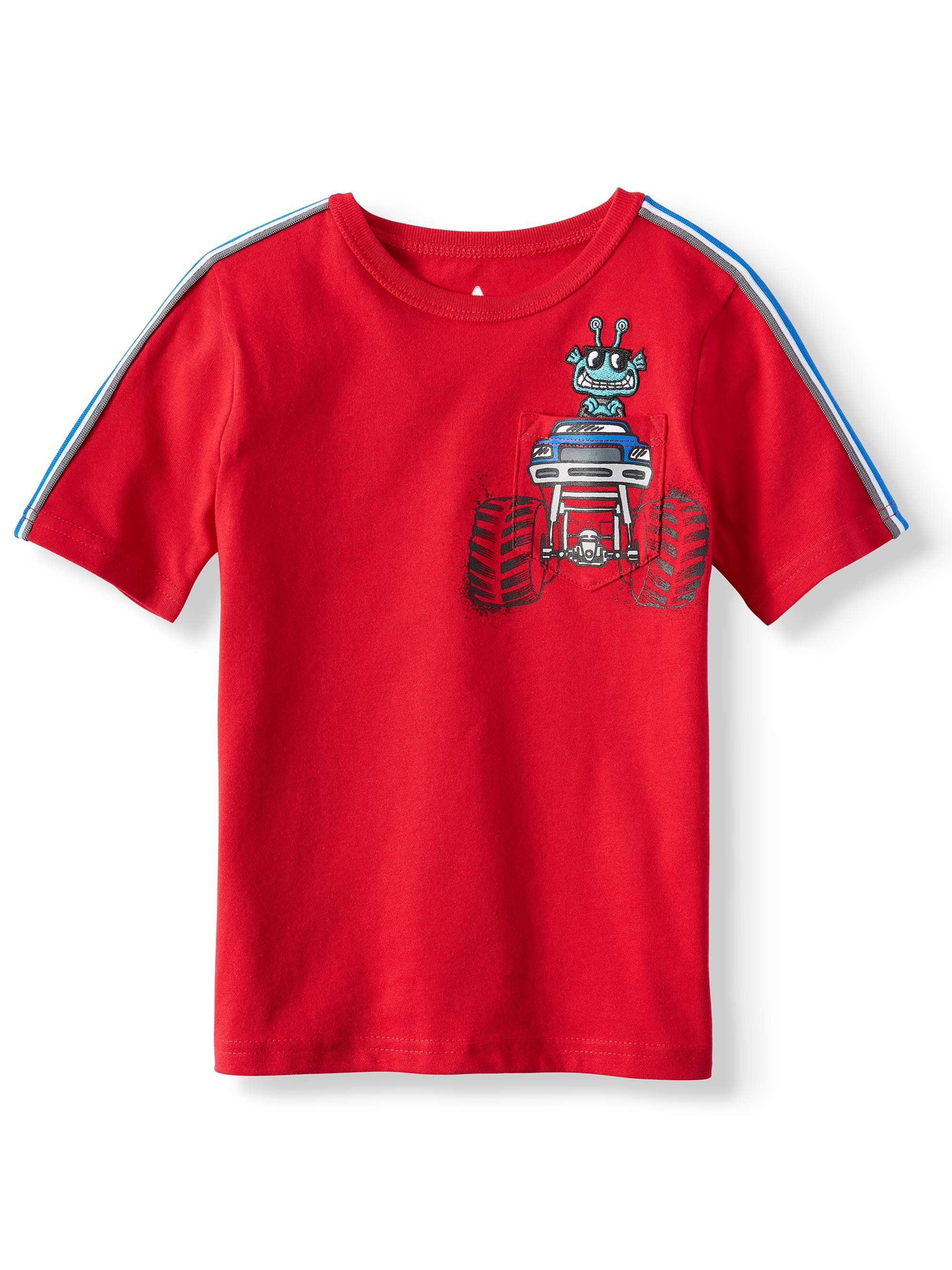 Short Sleeve Graphic Pocket Tee (Little Boys & Big Boys)