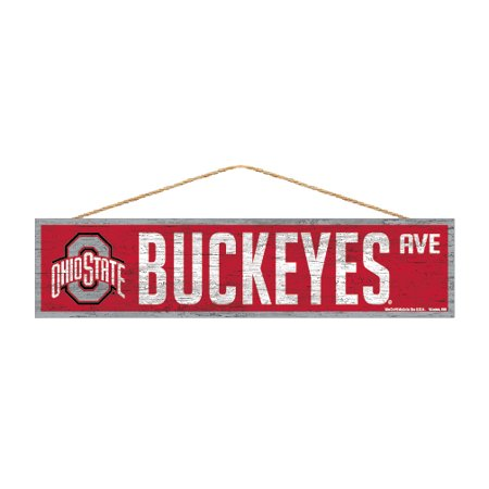 Ohio State Buckeyes Official Ncaa Wood Street Wall Sign 4X17 By Wincraft 880512