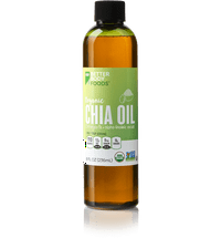 BetterBody Foods Organic Chia Oil — Contains Omega 3's and Alpha-linoleic Acid — 8 fl oz