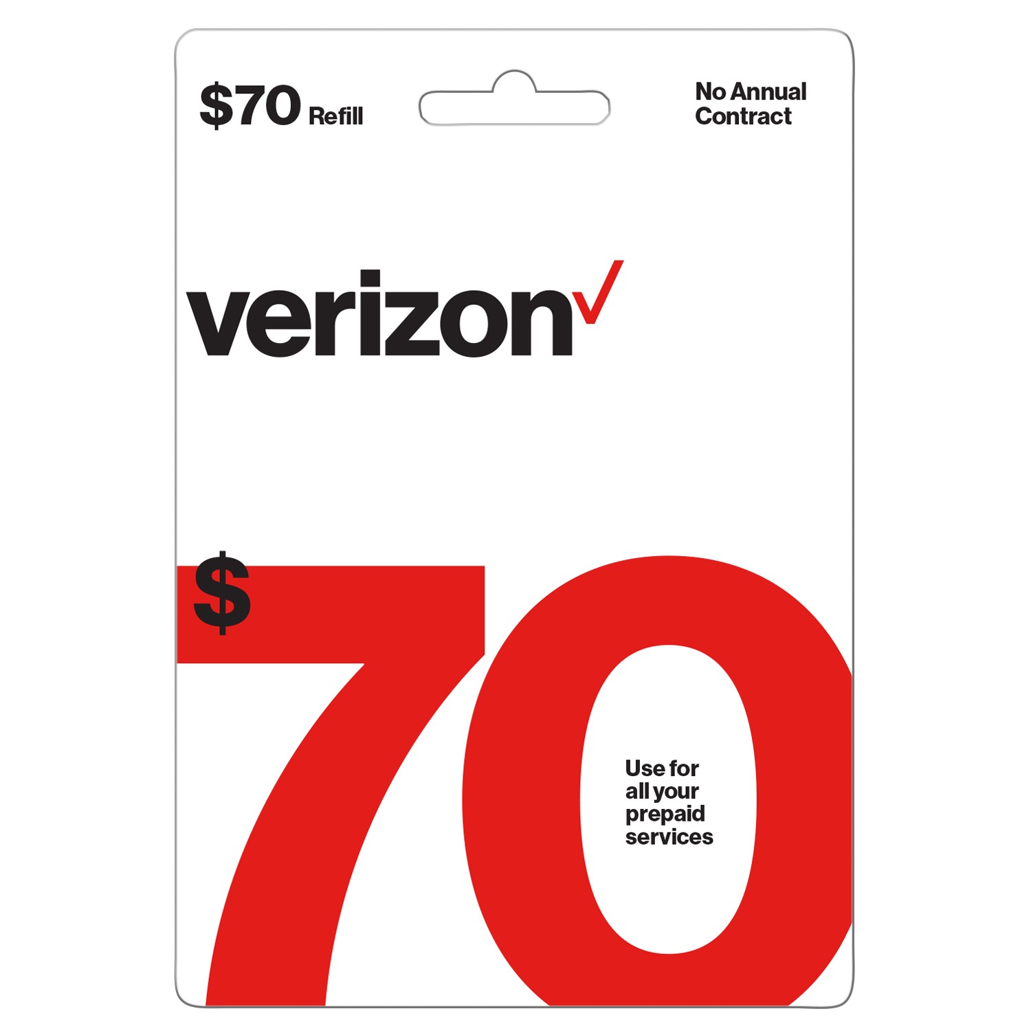 Verizon $70 Prepaid Refill Pin (Email Delivery)