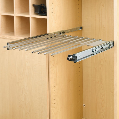 Rev-A-Shelf Pull-Out Pants Rack with Full-Extension Slide