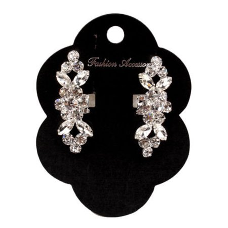 2pcs Crystal Crystal High Heel Shoe Charming Clips Rhinestone Wedding Diamante - image 1 of 7