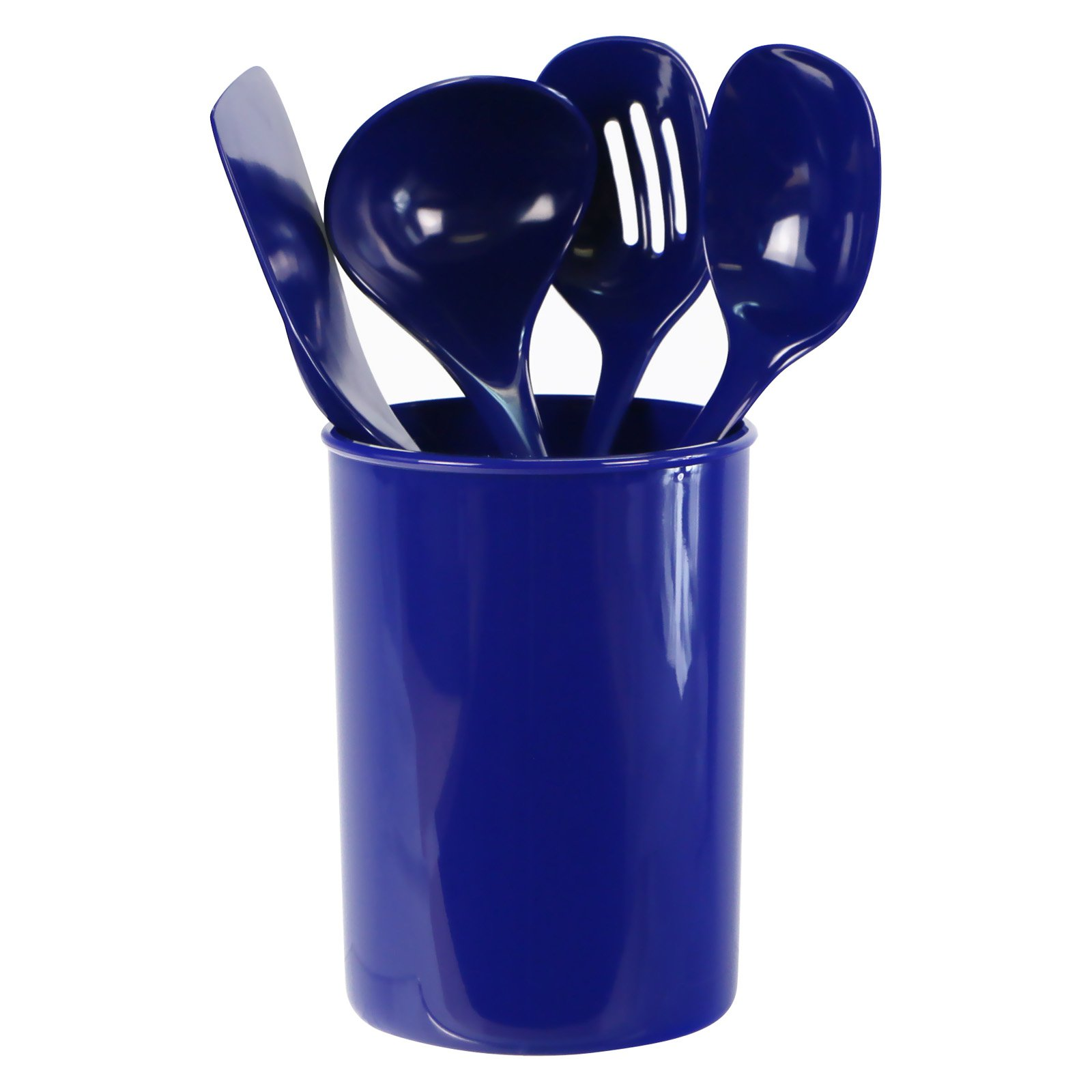 Calypso Basics, 5pc Utensil Holder Set, Indigo