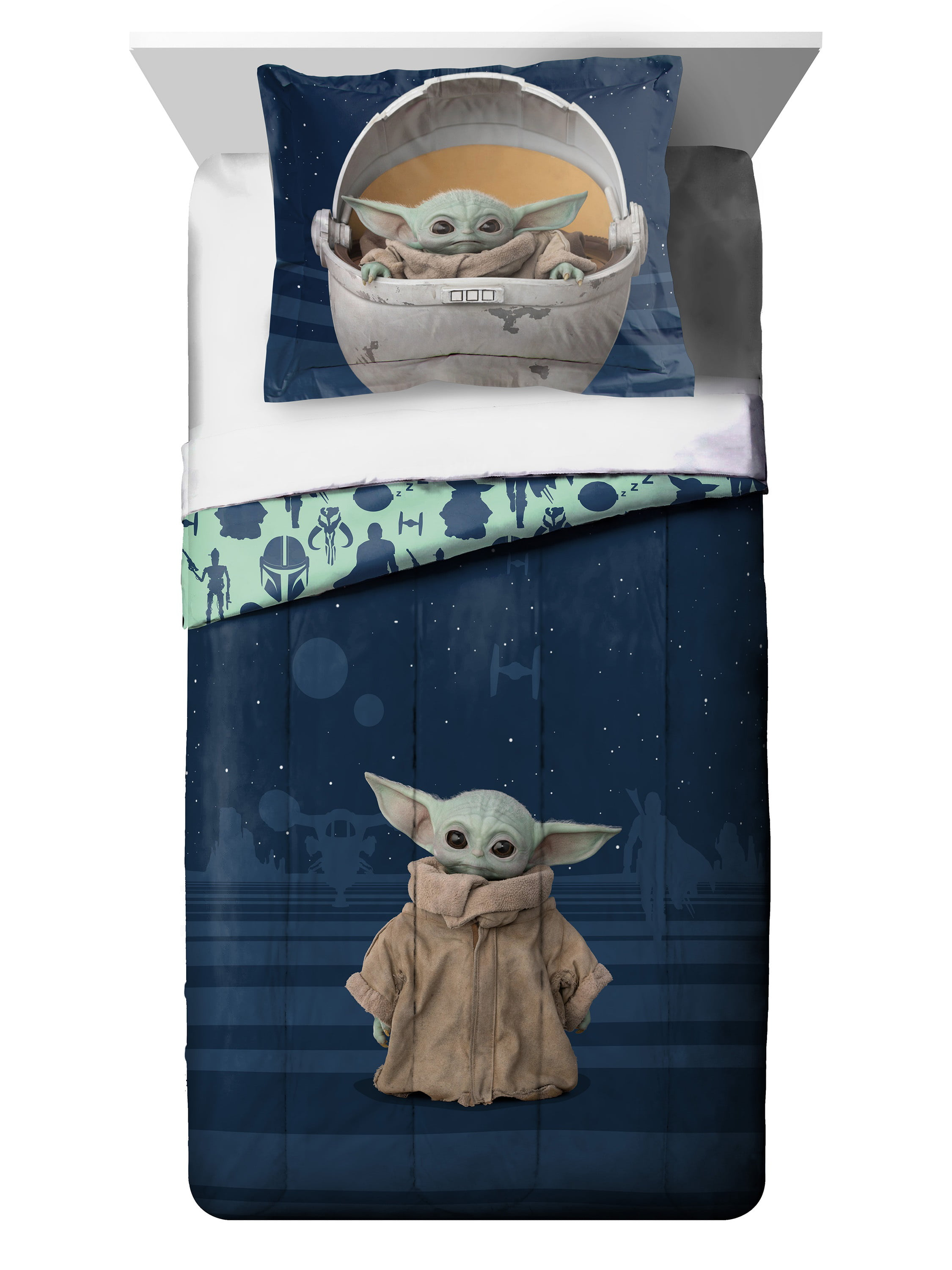 Baby Yoda Twin Full Comforter And Sham Set Walmart Com Walmart Com