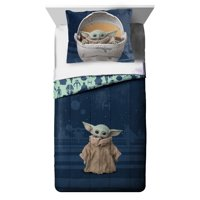 Star Wars: The Mandalorian 'The Child' Baby Yoda 2 Piece Twin/Full Comforter and Sham Set