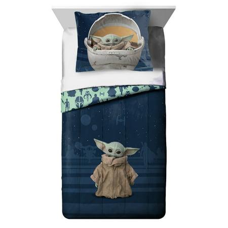 Star Wars: The Mandalorian 'The Child' Baby Yoda 2 Piece Twin/Full Comforter and Sham Set
