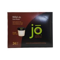 WILD JO: Fresh Seal Organic Coffee Pods, Eco-Friendly Recyclable Single Serve Capsule for use in Keurig K-Cup Compatible Brewers, Bold Rich Strong Dark French Roast, 24 ct