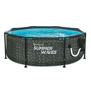 Summer Waves Active 8ft x 30in Above Ground Frame Swimming Pool Set with Pump