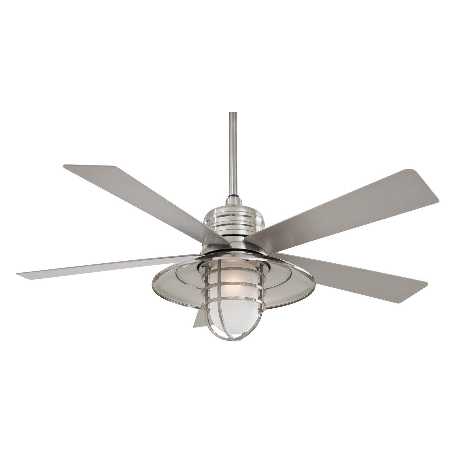 Indoor Outdoor Ceiling Fan Brushed Nickel