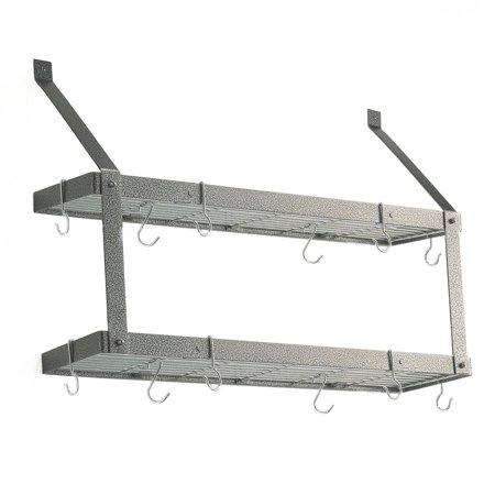 double bookshelf wall mount pot rack. Black Bedroom Furniture Sets. Home Design Ideas