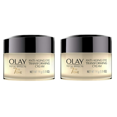 Olay Total Effects 7 in 1 Anti Aging Eye Transforming Cream, 0.5 Oz (Pack of 2) + Eyebrow