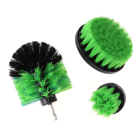 3pcs Nylon Drill Cleaning Brush Attachments Multifunction Power Scrubber Brush Drill Attachment Kit for Car Tile Grout Flooring Brick Ceramic Marble Bathroom Cleaning