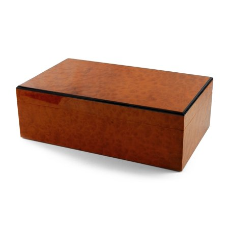 Reuge Swiss Music Box - Contemporary Burr Madrona Classic Style 3 Part 72 Note Reuge Music Box - Don't Cry for Me Argentina, Chariots of Fire, Memory