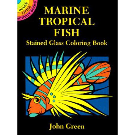 Marine Tropical Fish Stained Glass Coloring Book - Fish Glasses