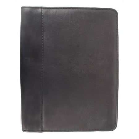 Letter-Size Padfolio in Black Leather