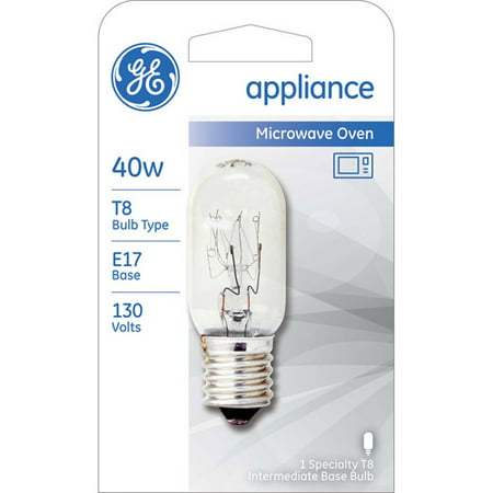 Ge 40W Appliance Bulb  Clear  T8 N  1 Pack