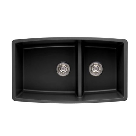 "Blanco 441474 Performa 19"" X 33"" Double-Basin Granite Undermount Residential Kitchen Sink, Available in Various Colors"