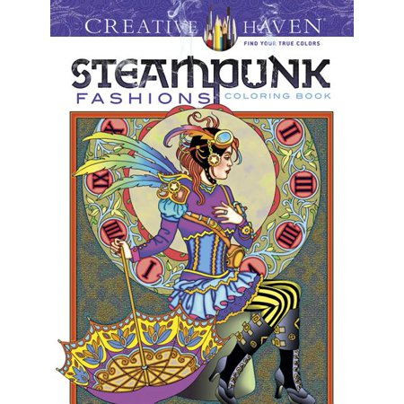 Creative Haven Steampunk Fashions Coloring Book (First Edition, First) (Paperback)