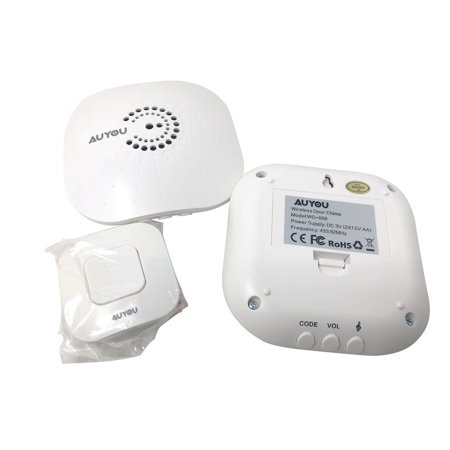 AuYou Doorbell wireless Long Range Alert System 2 Receivers