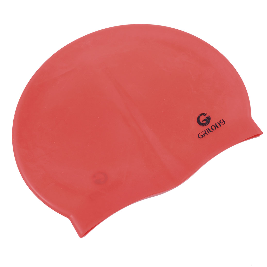 Unique Bargains Stretchy Waterproof Silicon Ear Hair Protection Swimming Cap Hat For Women Men by