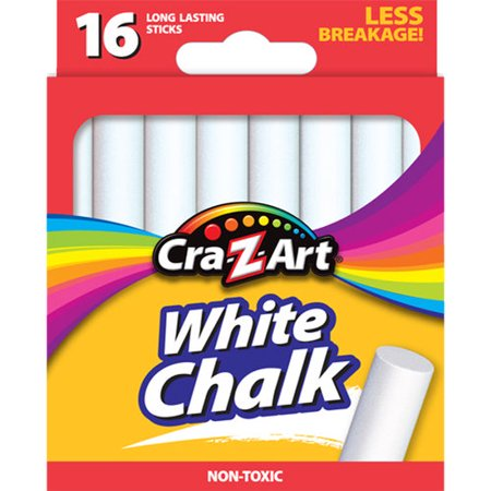 Cra-Z-Art Corp., Cra Z Art White Chalk, 16 sticks