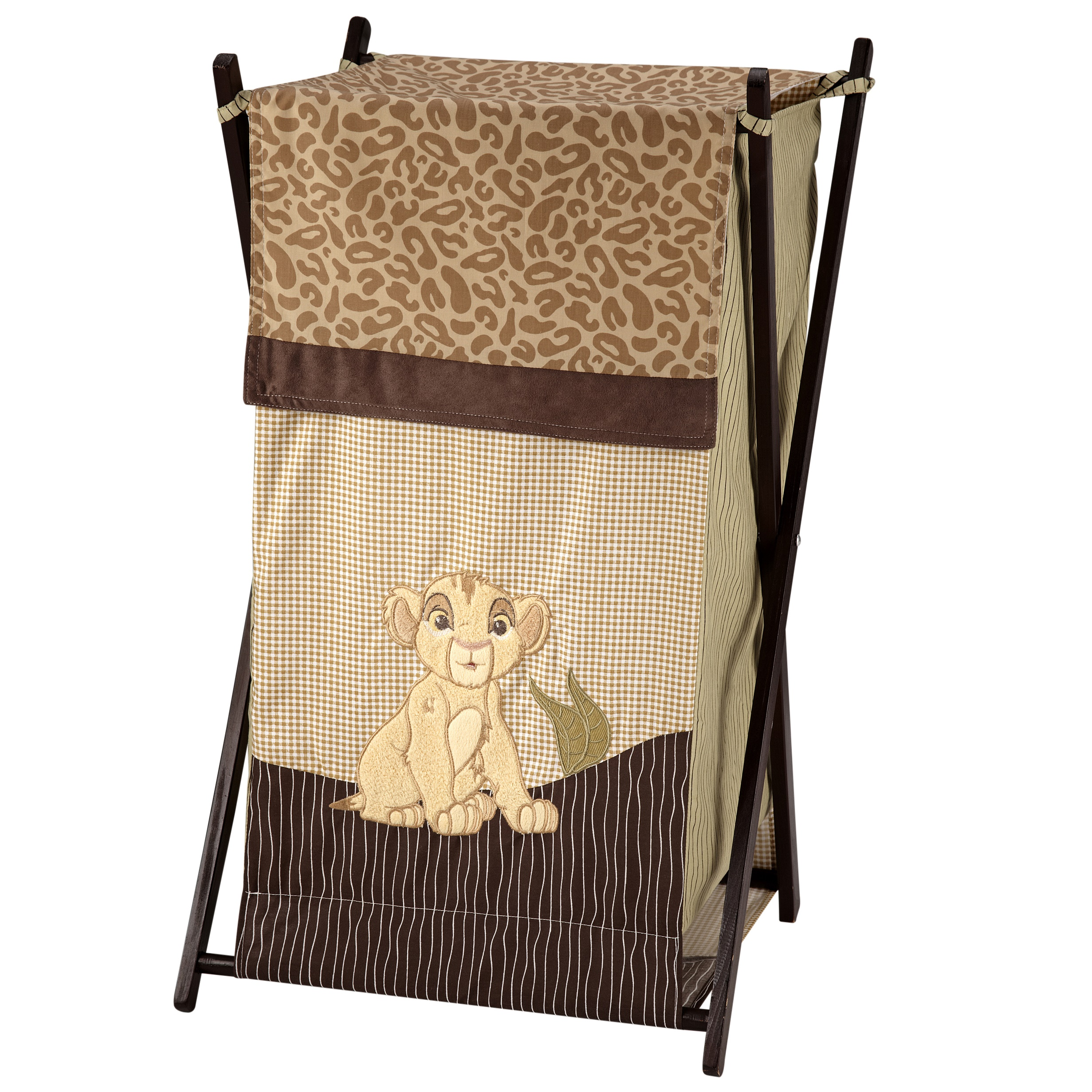 Disney Lion King Simba's Wild Adventure Appliqued Folding Hamper with Mesh Bag