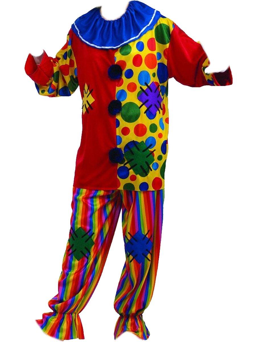 Adult Unisex Big Top Clown Costume Rainbow Shirt Pants and Collar  sc 1 st  Walmart.com & Adult Unisex Big Top Clown Costume Rainbow Shirt Pants and Collar ...