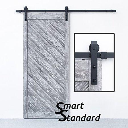 Hanger Hardware Kit (Sliding Barn Door Hardware 6.6 Feet Kit J Shape Hanger High Quality Steel)