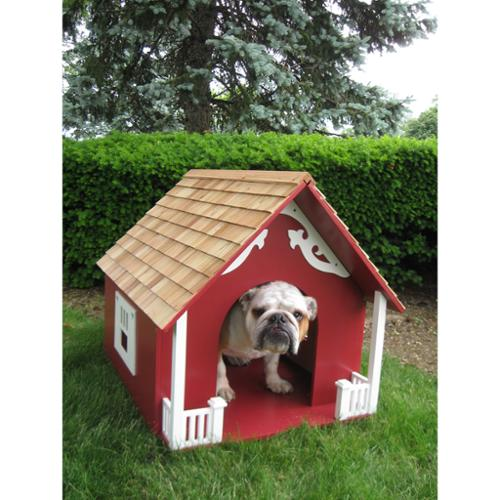 Heart Red Dog House Heart Dog House - Red