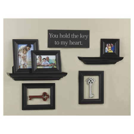 Elements Melannco Ten Piece Espresso Shelf Picture Frame