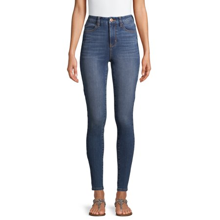No Boundaries Juniors Curvy Ultra High Rise Ankle Skinny Jeans